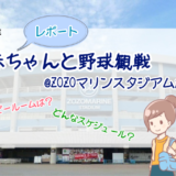 【レポート】赤ちゃんと野球観戦@ZOZOマリンスタジアム!座席は?スケジュールは?